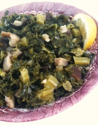Kale and Shiitake