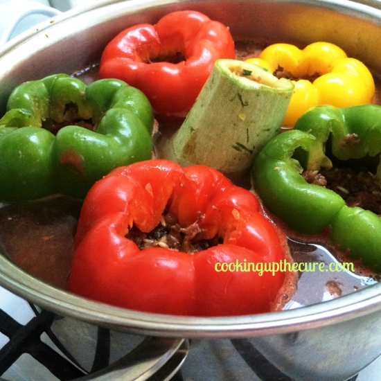 Raw Stuffed Peppers in sauce 2014