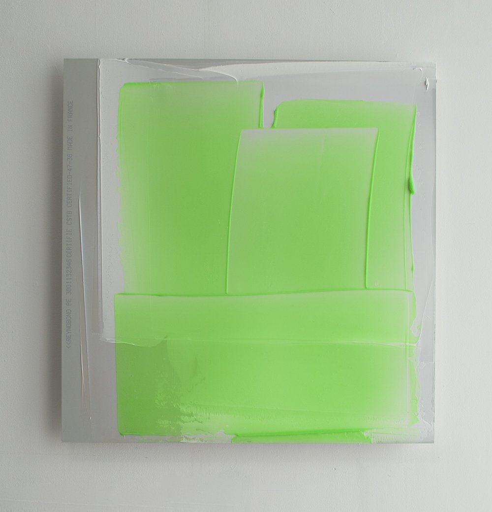 Green and White Composition (with text), 2014, 64x57cm.jpg