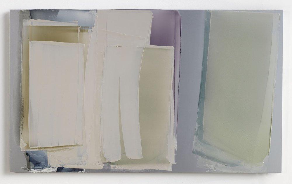 Untitled, 2010  50x120cm  mixed media on anodized aluminum