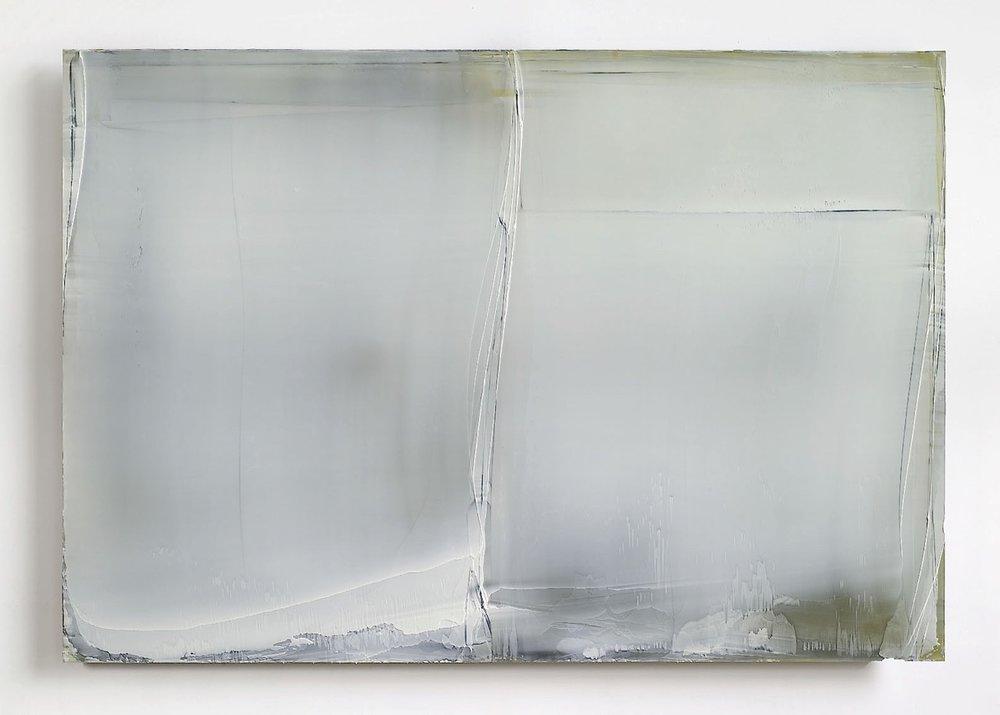 Untitled (Burgundy Lights) White Composition, 2010  120x185cm  Kremer Pigments and Acrylic/Polyurethane on Aluminum Panel