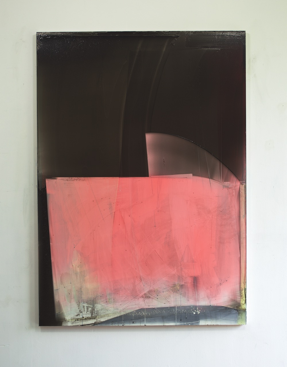 Large Black and Pink Composition, 2016, 180x120cm.jpg