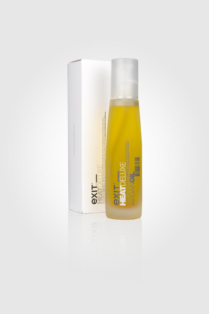 Heat Deluxe Arganil är en skönhetselixir till alla hårtyper, som sveper in ditt hår i ren lyx. Absorberas snabbt utan att återlämna rester eller fett. UV- och värmeskydd upp till 200°C.