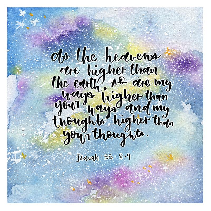 Isaiah 55:8-9