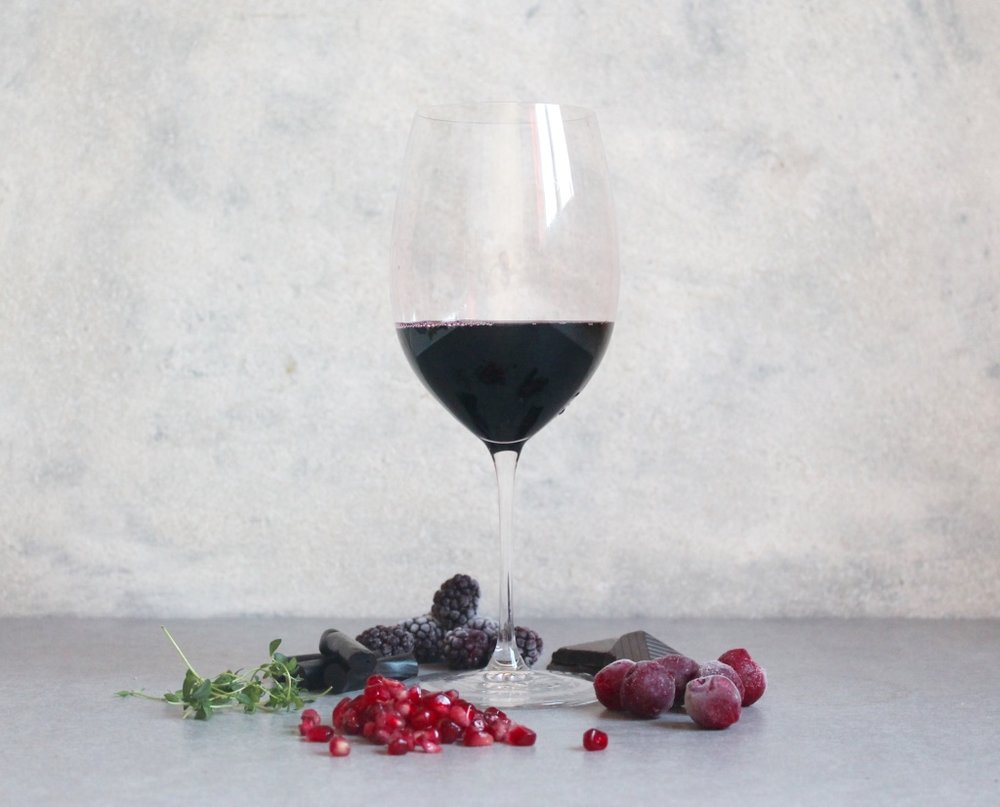 Key flavours; Pomegranate, Thyme, Cherry, Chocolate, Liquorice and Blackberry