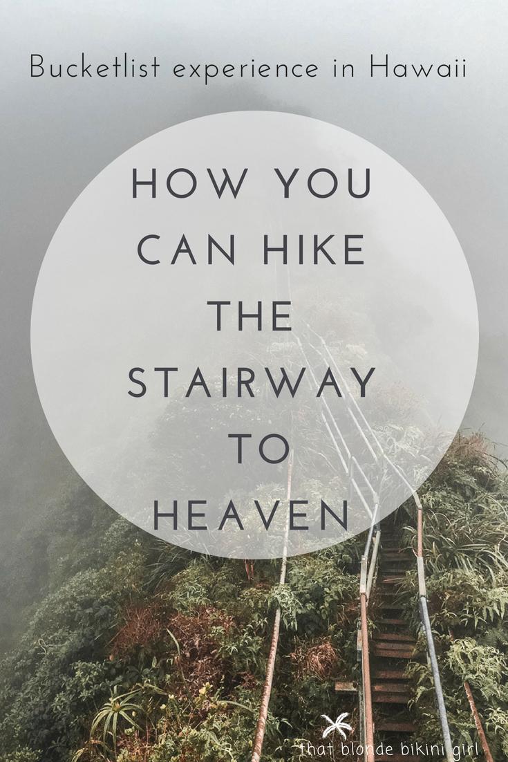 how to hike the stairway to heaven haiku stairs