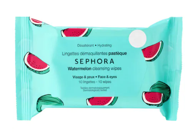 Cleansing on-the-go face & body wipes - $4.00