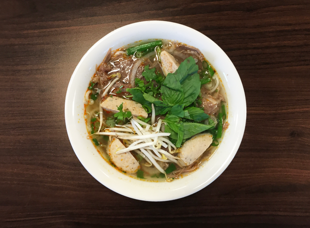 22. Bun Bo Hue  Spicy Beef Noodle Soup with Pork Balls