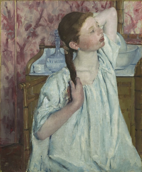 Mary Cassat,  Girl Arranging Her Hair  (1886)
