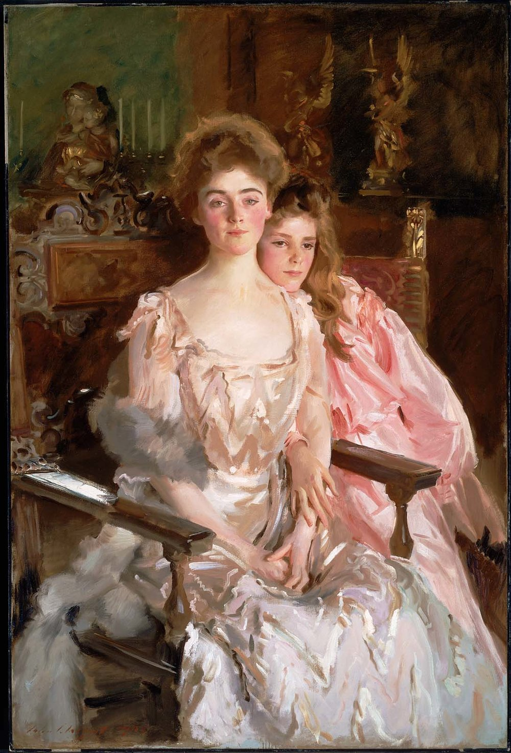 John Singer Sargent,  Mrs. Fiske Warren & Her Daughter Rachel  (1903)