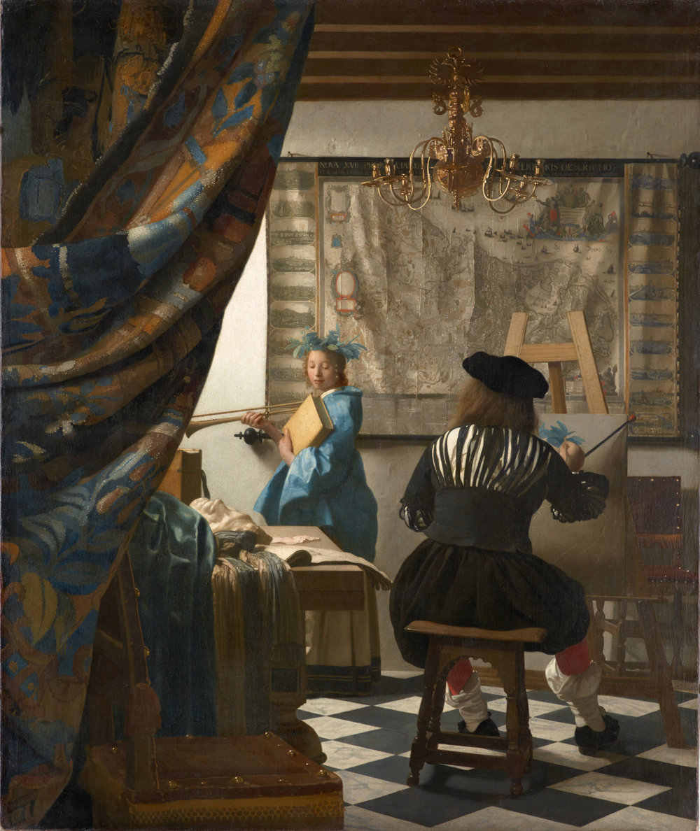 Johannes Vermeer,   Allegory of Painting  (ca. 1666)