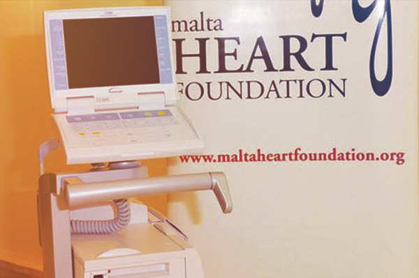 INTRA-AORTIC BALLOON PUMP   An intra-aortic balloon pump worth more than €40,000, was  donated  by the Malta Heart Foundation to Mater Dei Hospital. This mechanical device increases heart muscle with oxygen perfusion aiming to increase heart performance.