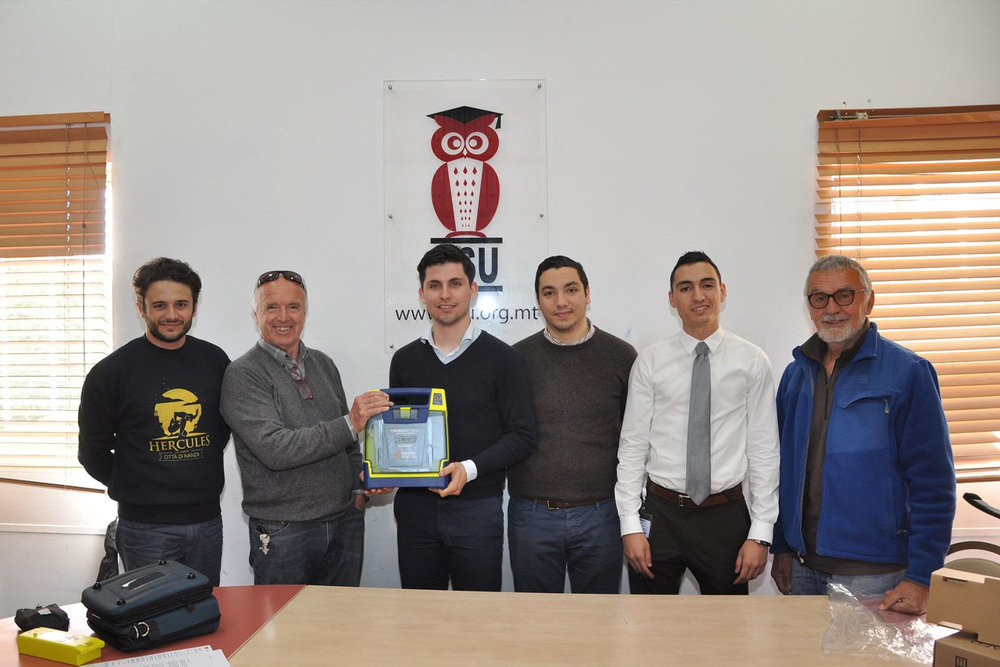 AUTOMATED EXTERNAL DEFIBRILLATOR (AED) DONATIONS   The Malta Heart Foundation has  donated  a number of AEDs to numerous entities including The Malta Olympic Committee, The University of Malta Students' Council, The House of Representatives, and The Manoel Theatre.