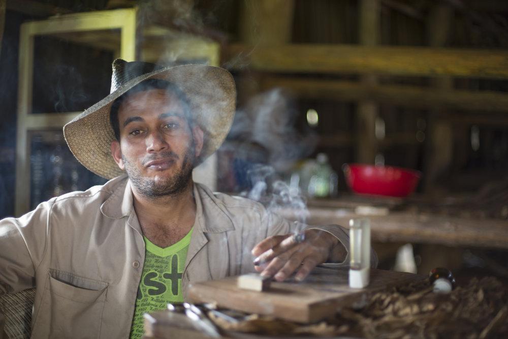 Tobacco grower in Vinales, Cuba