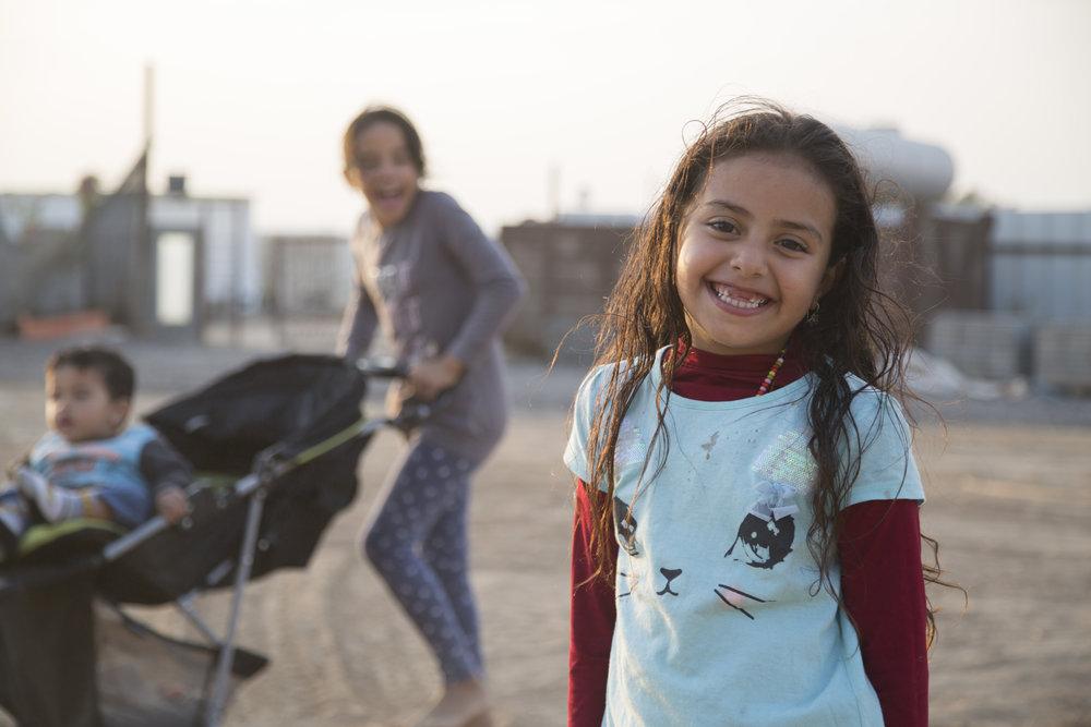 Children in bedouin village in Negev, Israel