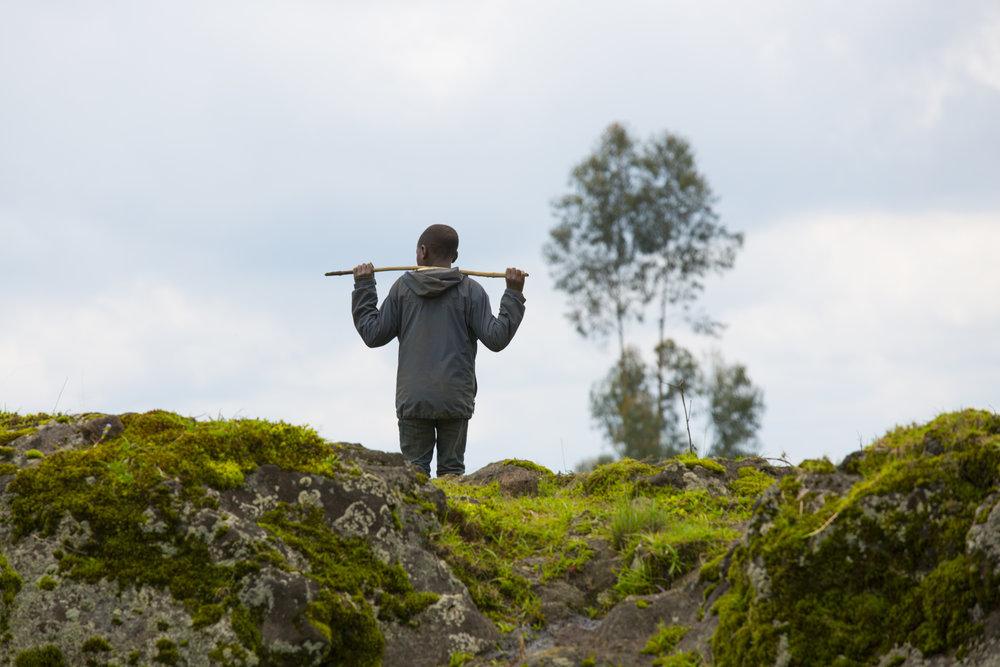 Young boy in Virunga Mountains, Rwanda