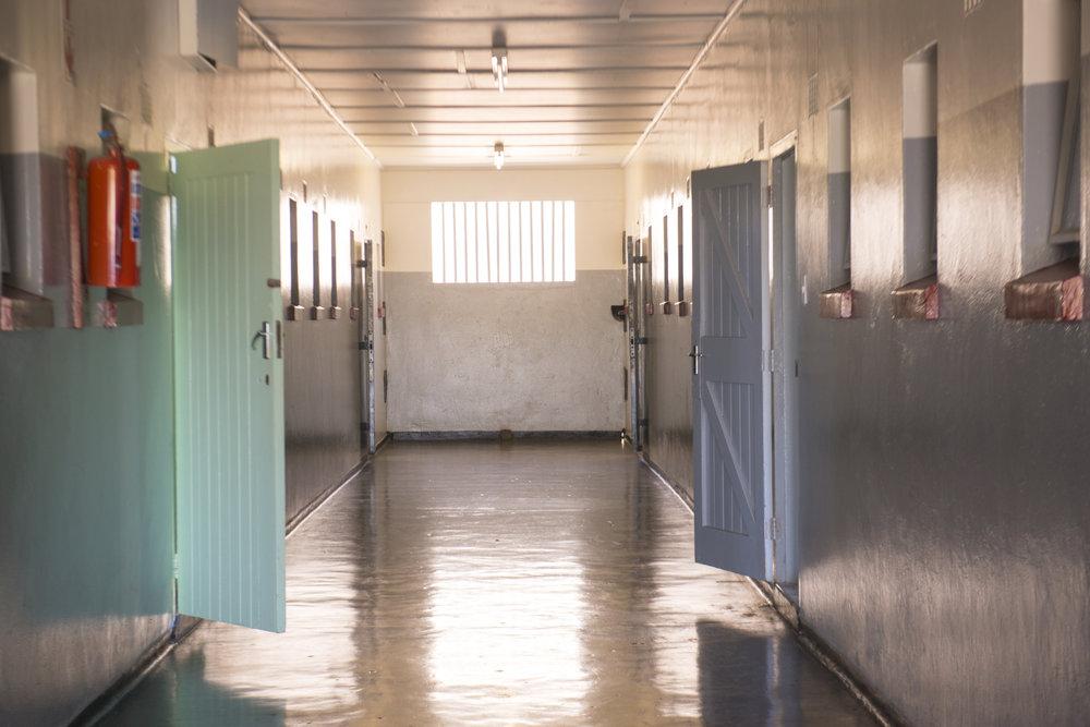 Mandela's prison on Robben Island, South Africa