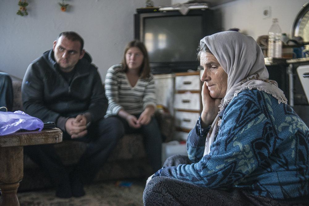 Refugee family in Bosnia