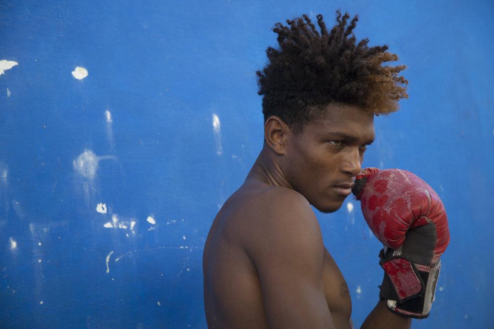 Boxing school in Havana, Cuba