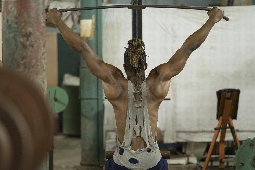 Luis Angel, model at local gym in Havana, Cuba