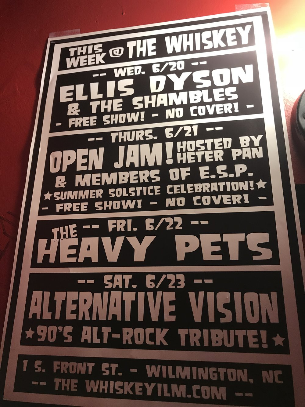 """""""This week at The Whiskey"""""""