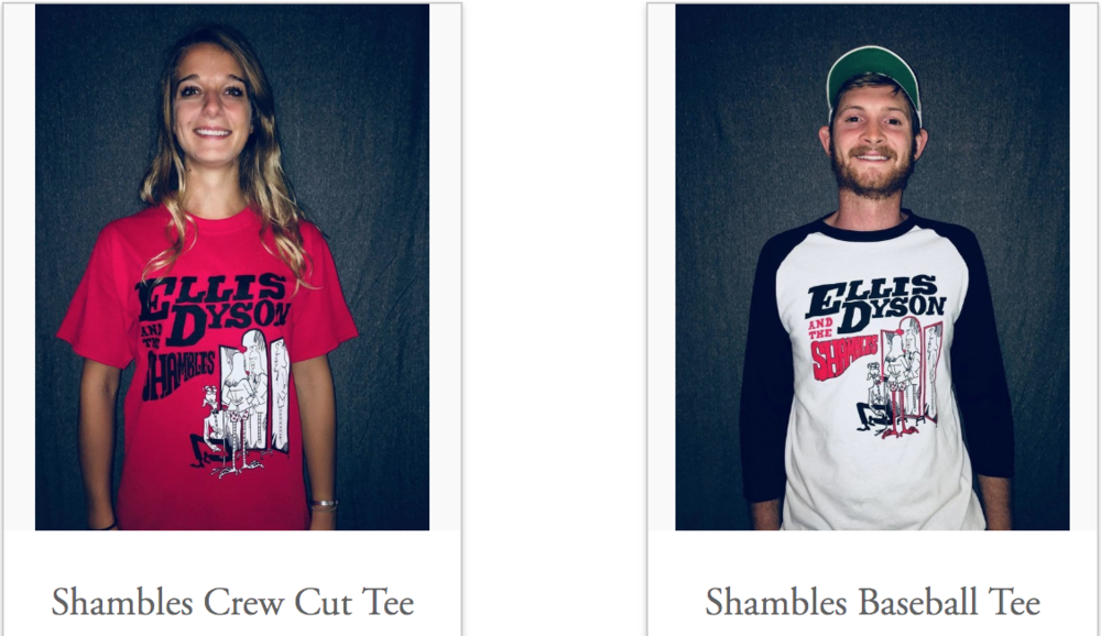 Emily and Ellis doing a fine job modeling the new merch