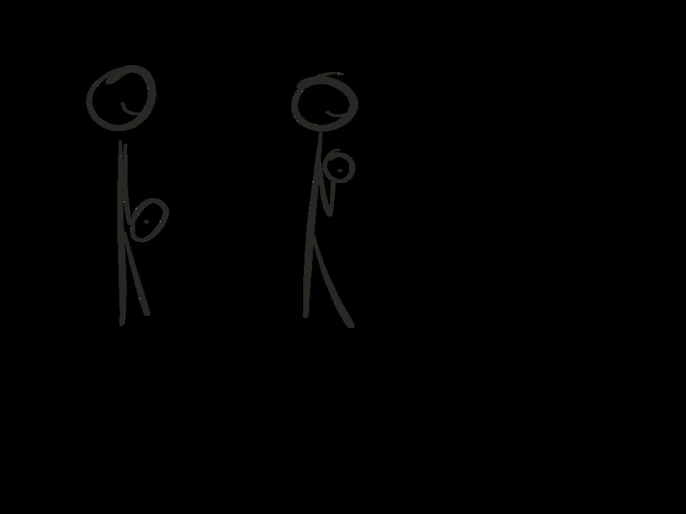 Stick figure diagram, barbell curl