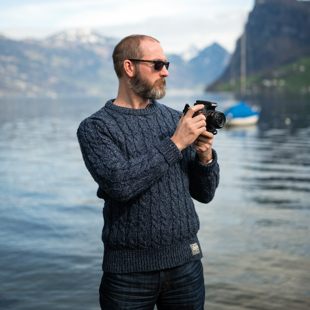I didn't take this one!   This is me on a shoot in Luzern, Switzerland.  Photograph by Cornelius Jaeger