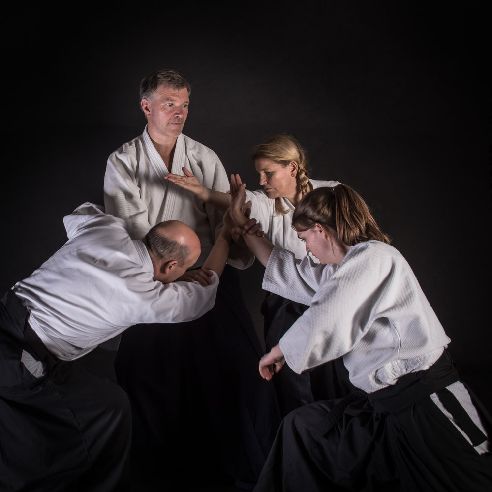 Sensei Jan Nevelius.  Jan teaches stress management seminars to many different companies in Sweden