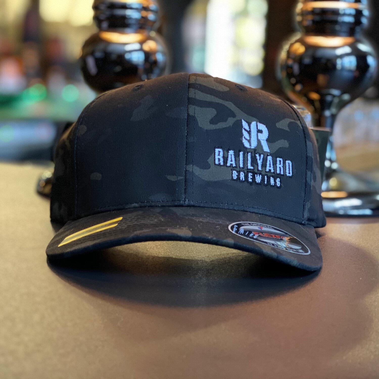 RAILYARD FLEXFIT MULTICAM HAT  Railyard Brewing   Calgary Craft Brewery