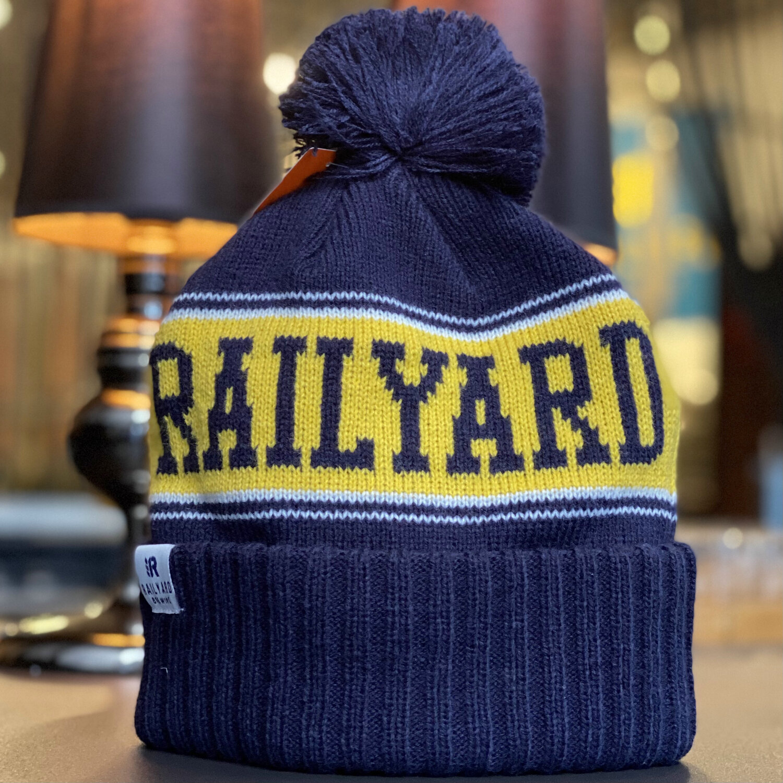 RAILYARD BREWING - PUKKA KNIT TOQUE (BLUE/YELLOW)  Railyard Brewing   Calgary Craft Brewery