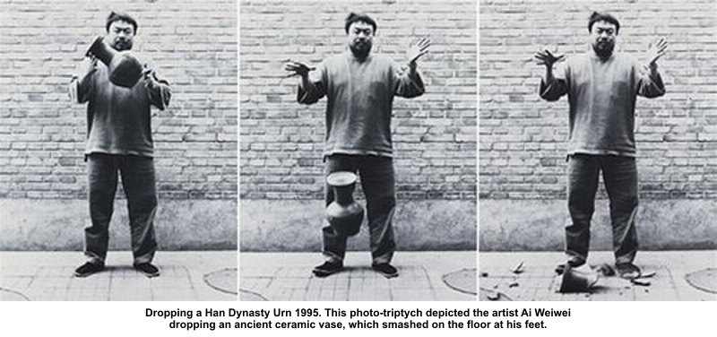 Ai Weiwei dropping a Ming Dynasty vase
