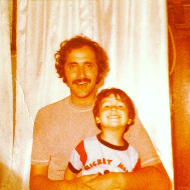 Me and my handsome dad back in the day