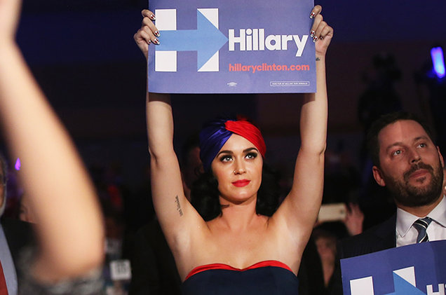 Plus she's got Katy Perry's vote. That's gotta be worth, what, 17 electoral votes at least?