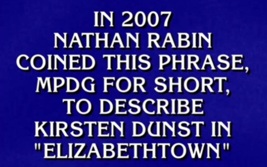 This has nothing to do with the piece, but I was a Jeopardy question yesterday. Pretty cool, huh?