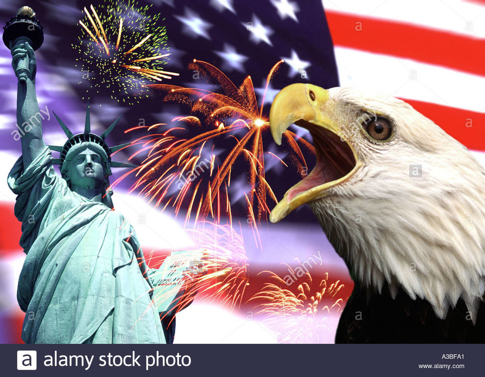 You've really got to watch out for the eagles vomiting fireworks, especially this time of year