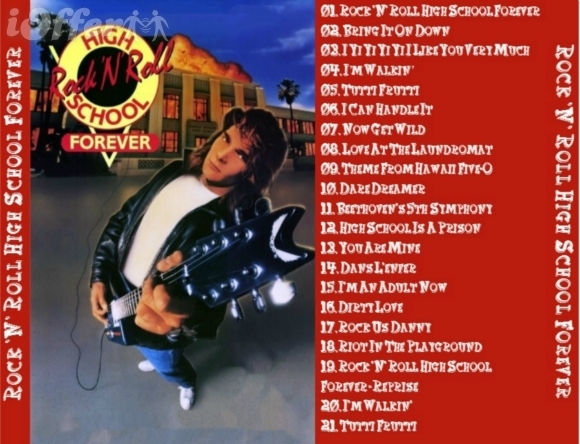 The Rock 'n' Roll High School Forever soundtrack is like the Saturday Night Fever soundtrack, in that they both feature music from films.