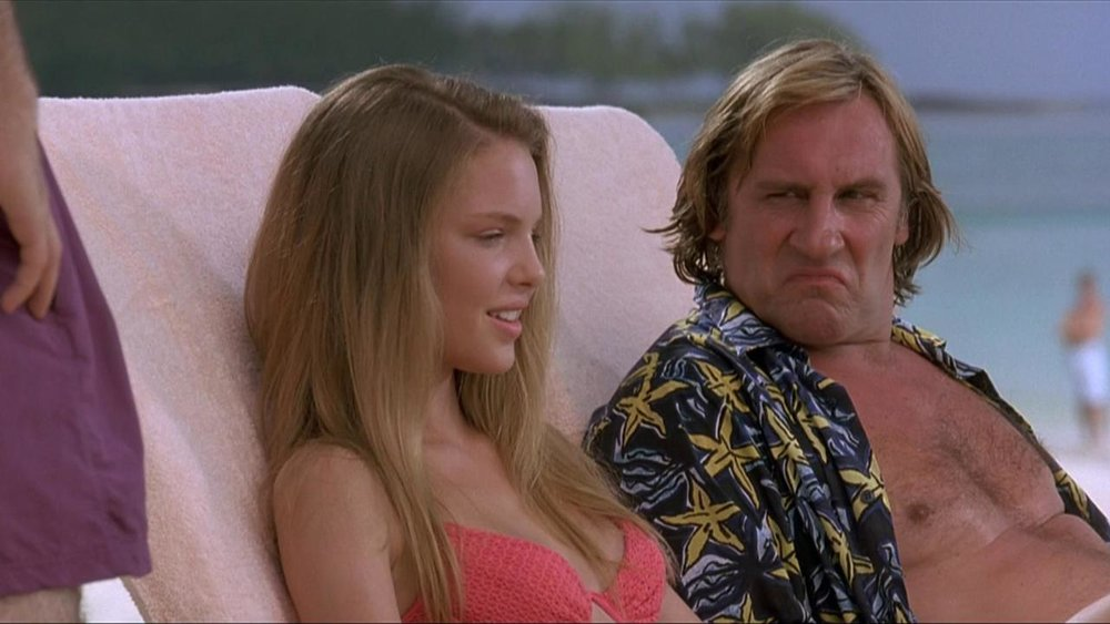Depardieu makes the face he presumably made upon reading My Father the Hero's script.