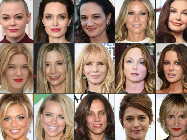 Here are just some of the women who have come out against Harvey Weinstein