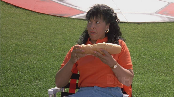 On the plus side, Jackee gets to eat a giant sandwich onscreen, always a win.