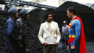 Later, Superman tries to get Pryor a shitty job at a coal mine despite him being the world's greatest computer genius. Pretty racist, there, Supe.