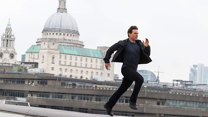 Stop running so fast, Tom Cruise! You'll trip and hurt yourself!