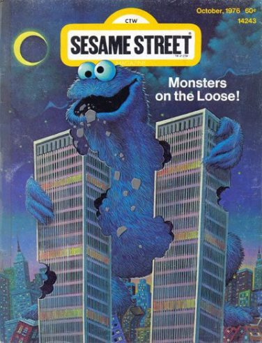 Is it just me or is this Sesame Street Magazine cover from November, 2001 in very poor taste?