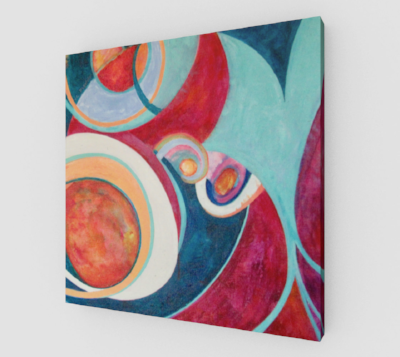 """Music of the Spheres"" framed canvas"