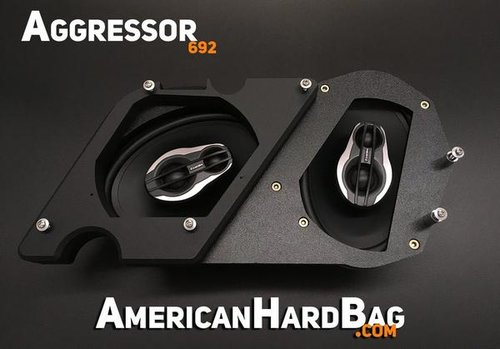 american hard bag aggressor 692 harley twin 6x9 kit for saddlebags