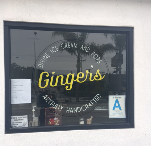 Ginger's Ice Cream shop, Mar Vista, CA