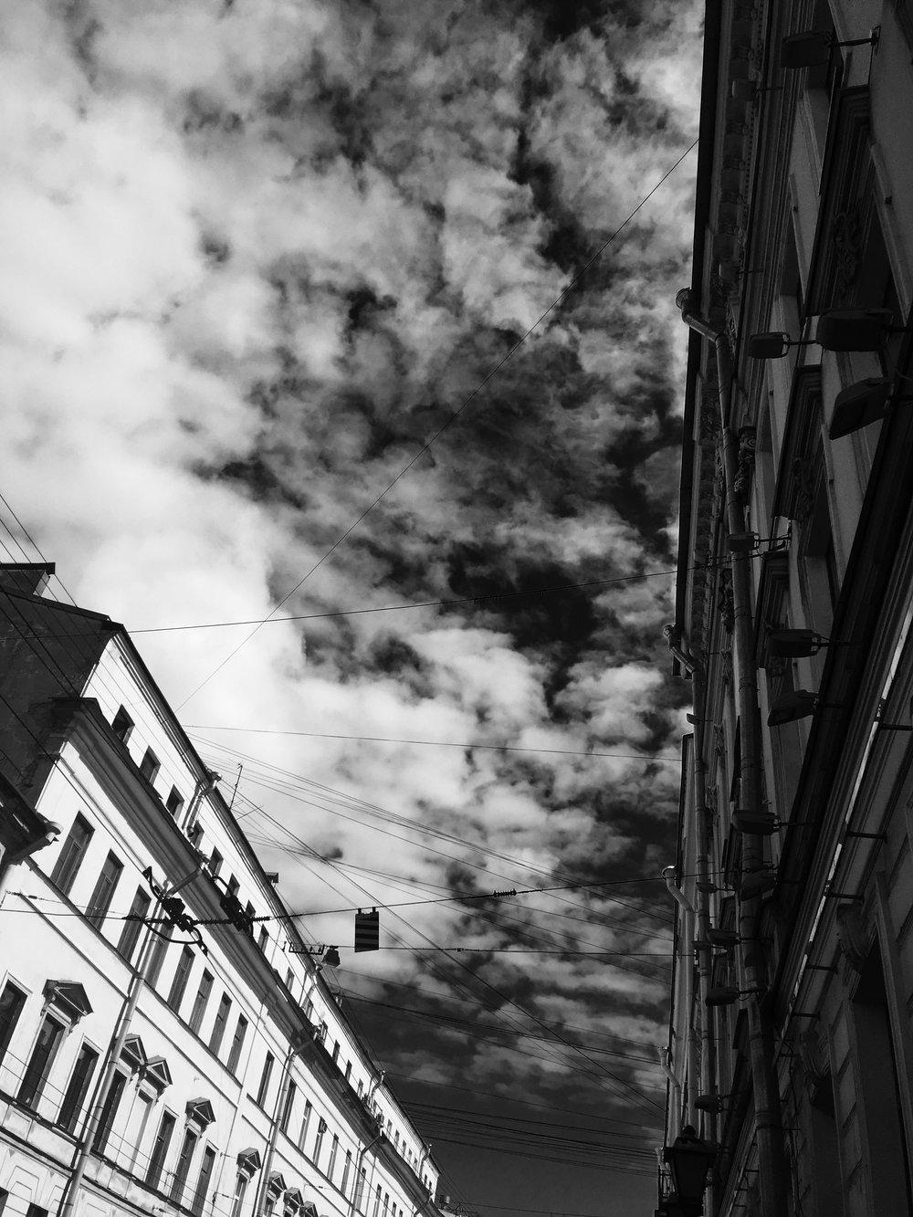 Moody St. Petersburg sky