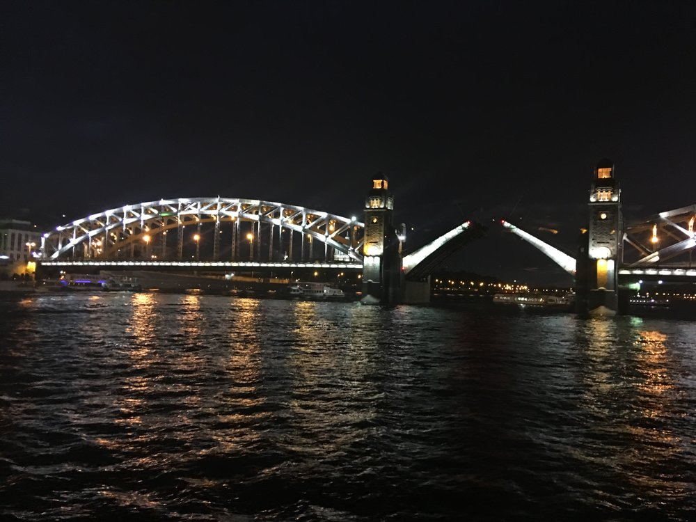 The Opening of the Bridge, shot from a boat ride