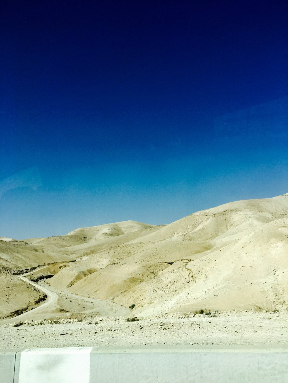 On the way to Masada