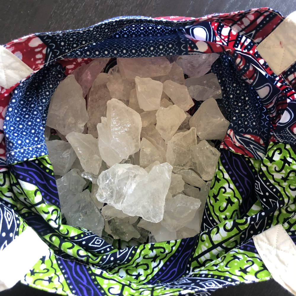 Tuscon gemstones, crystal quartz